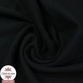 Bord-côte noir - Oeko-Tex