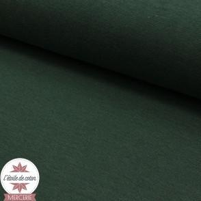 Bord-côte vert câpre - Oeko-Tex