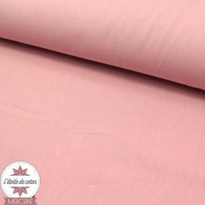 Tissu coton rose blush - Oeko-Tex