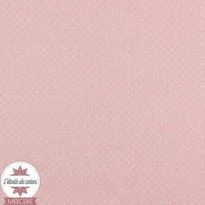 Tissu coton enduit - mini pois rouge