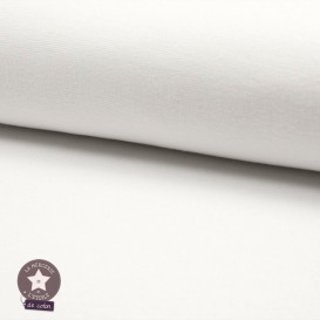 Bord-côte blanc - Oeko-Tex