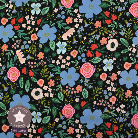 Rayonne (viscose) Cotton + Steel - Wild Rose