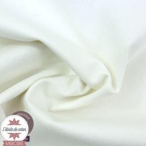 Tissu toile de coton canvas - blanc