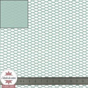 Tissu filet coton biologique - vert d'eau
