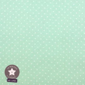 Mini pois vert jade - Oeko-Tex