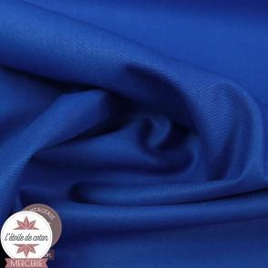 Popeline de coton - bleu cobalt (Oeko-Tex)