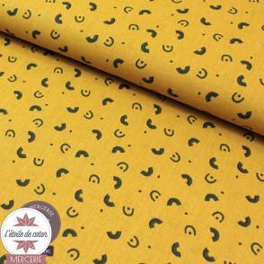 Tissu coton Miali safran - Oeko-Tex