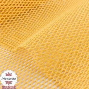 Tissu filet coton biologique - rose