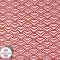 Coton enduit Sushis - rouge