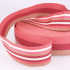 Sangle 40 mm - stripe double face - rose