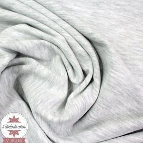Jersey uni - gris clair chiné (Oeko-Tex)