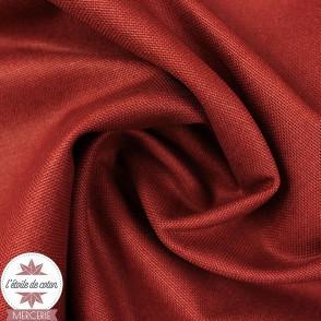 Tissu toile de coton canvas - terracotta