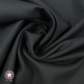 Tissu toile de coton canvas - gris anthracite