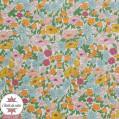 Tissu Liberty - Poppy & Daisy - bleu/rose - collection 40 ans