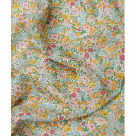 Tissu Liberty - Poppy & Daisy - bleu/rose - collection 40 ans