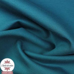Jersey Milano uni - bleu canard
