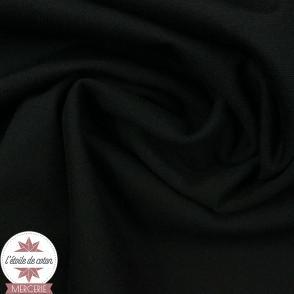 Jersey Milano uni - noir