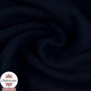 Tissu caban bleu marine