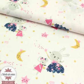 Tissu coton Lafée Flomi bleu nuit - Oeko-Tex