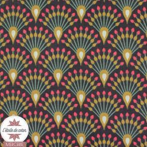 Tissu coton Ginza Aubergine - Oeko-Tex