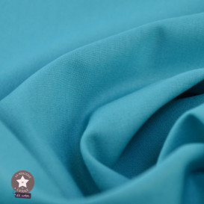 Popeline de coton - bleu azur