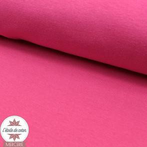 Bord-côte rose fushia - Oeko-Tex