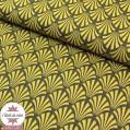 Tissu coton Khol bronze/kaki - Oeko-Tex