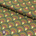 Tissu coton Ginza bronze/kaki - Oeko-Tex