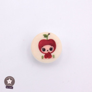 Bouton bébé pomme - 15 mm
