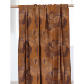 Tissu viscose stretch - Art flower ocre