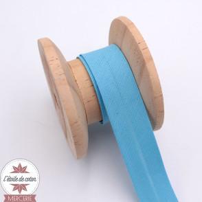 Biais polycoton bleu clair