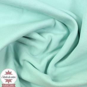Jersey bord-côte bio 165 cm - menthe douce