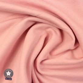 Jersey bord-côte bio 165 cm - rose dragée