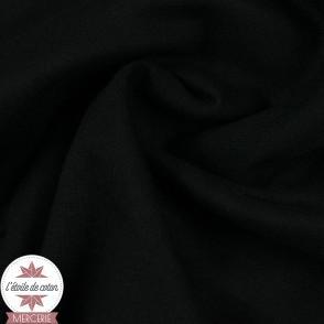 Jersey bord-côte bio 165 cm - noir