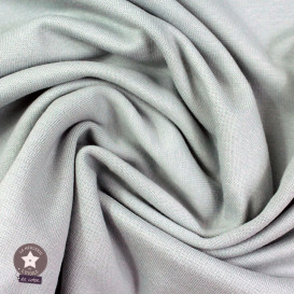 Jersey bord-côte bio 165 cm - gris clair