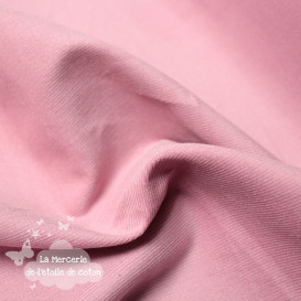 Velours fin milleraies rose thé - stretch