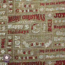 Toile de jute - Merry Christmas