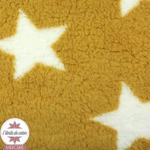 Tissu polaire sherpa - ocre/moutarde (Oeko-Tex)