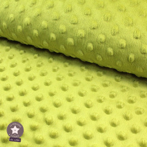 Minky pois vert pistache - Oeko-Tex