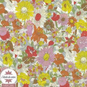Tissu japonais Kokka - coton fleuri Janice