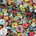 Tissu japonais Kokka - coton fleuri Betty