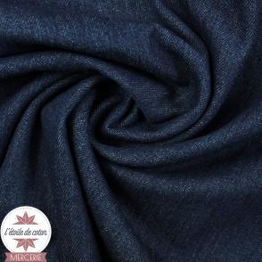 Tissu jeans brut - Bleu denim