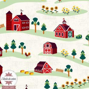 Tissu coton Barnyard by RJR