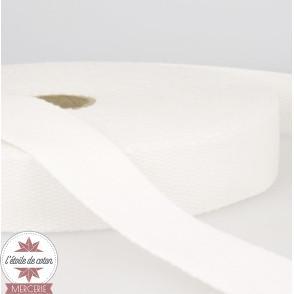 Sangle coton 30 mm - blanc