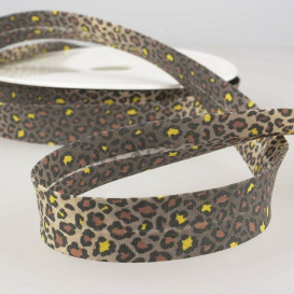Biais léopard jaune - 20 mm