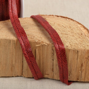 Passepoil simili cuir vieilli rouge - 20 mm
