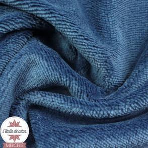 Tissu micro éponge de bambou bleu (Oeko-Tex)
