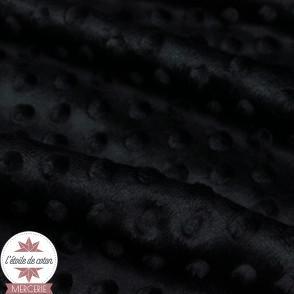 Minky pois noir - Oeko-Tex