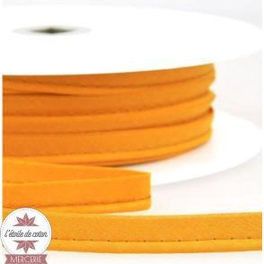 Passepoil uni polycoton - jaune moutarde