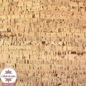 Coupon 50 x 70 cm - tissu liège rayures